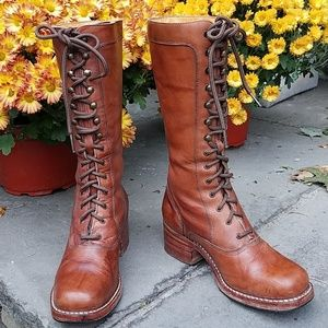 FRYE Campus lace up boots